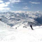 Skieën op de Albonaberg 2500m.