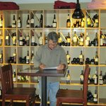 Choosing a wine to drink at Barking Dog Wine