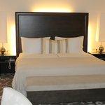 double bed in junior suite