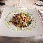 Warm squid salad