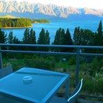 View of Lake Wakatipu and mountain ranges
