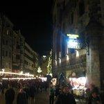 Christma Market in street outside the Goldener Adler