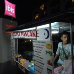 Banana pancake store outside hotel. ~50BHT/pc - must try!