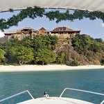 View from Gumption's Boat of Necker Island