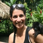 Eva with Aldo, a baby Howler monkey (the one on the right).