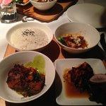 Roy's Beach Walk Trio Hibachi Salmon, Macadamia Nut Crusted White Fish, Misoyaki Butterfish