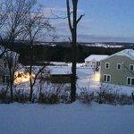 vista da janela da suite nas primeiras horas da manhã