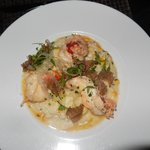 Delicious lobster risotto with truffle