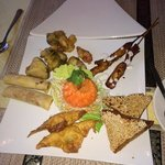 Starter platter on the sunday buffet