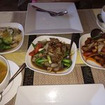 Selection of Sunday buffet dishes