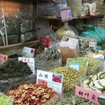 Spice trade at the bustling market