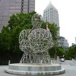 Sculpture in front of the Woodruff Arts Center, Atlanta, GA.