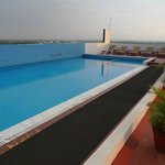 swimming pool on the roof terrace