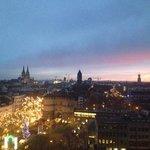 uitzicht op de Dom en de kerstmarkt