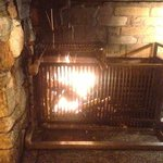 Wood fire for meat cooking