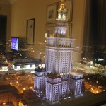 view from room night: palace of culture and science