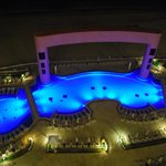Pool from our room at night