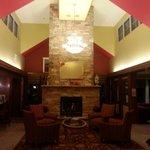 Nice lobby fireplace