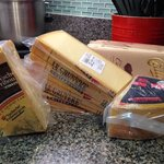 A few local cheeses transported back to the US