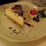 Orange and white chocolate cheese cake