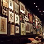 Wall of art at Casa Nonna, NYC