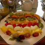 from the large breakfast menu I chose light and was delighted with the presentation and quality!
