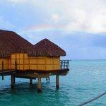 A rainbow over paradise!