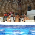 Swim up Bar with Wilson and Juan