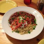 $3.99 side of rice and beans: We thought it would be the usual small cup. Large & delicious!