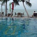 the pool facing the sea