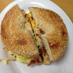 Dick's Breakfast Sandwich on a Bagel