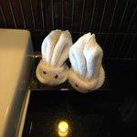 Bunny towels