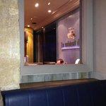 la reception vista dal ristorante