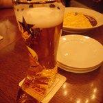 ブーツグラスのビールは外せない