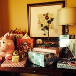 Our little Christmas set-up in the room!