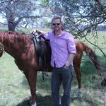 Hubs and his horse, Frank