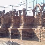 "Restoration work going on at ""Chatadis"" Bhuj.Some of them had worn out with time or damaged duri"
