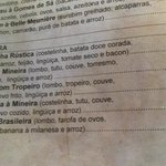 Preços de prato para duas pessoas, dez/2013. Quantidade suficiente para três pessoas.