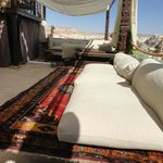 Covered terrace overlooking Goreme