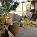 Walkway from terrace to garden