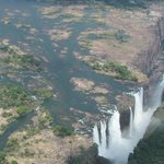 Vic Falls from the helicopter