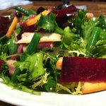 Cicada Frise Salad with Crispy Pancetta and Beets