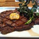 Cicada Grilled Ribeye Steak with Valdeon Butter