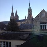 the view of the Cathedral from our room