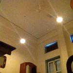 High ceilings in the room