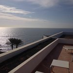 Beautiful view of our roof terrace and the sea