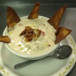 Southwestern Chicken Corn Chowder with Homemade Tortilla Chips