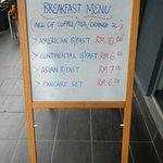 breakfast menu at grid 9 hotel