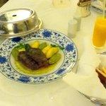 Prato com Picanha do room service: Saborosa mas a carne deveria ser macia
