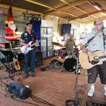 Live band at Christmas party